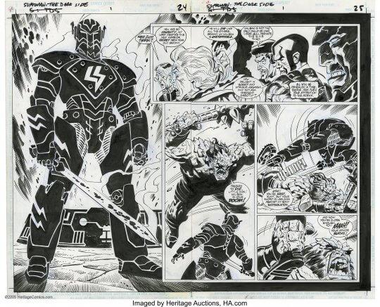 《Superman: The Dark Side》漫畫。