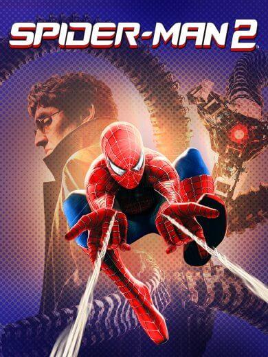 山姆雷米導演電影《蜘蛛人 2》主角蜘蛛人對抗反派八爪博士。
