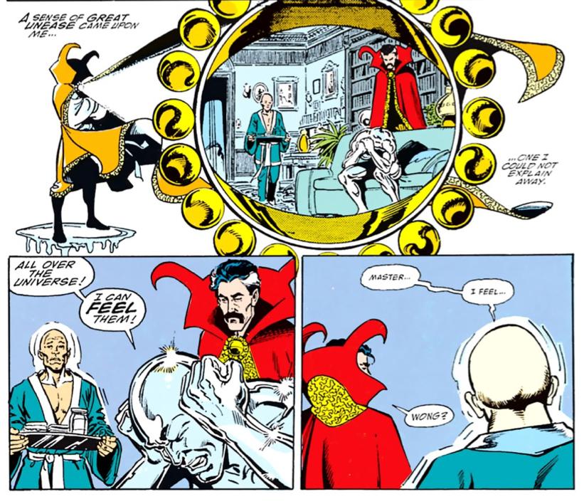 銀色衝浪手 通知 奇異博士 宇宙面臨薩諾斯的威脅