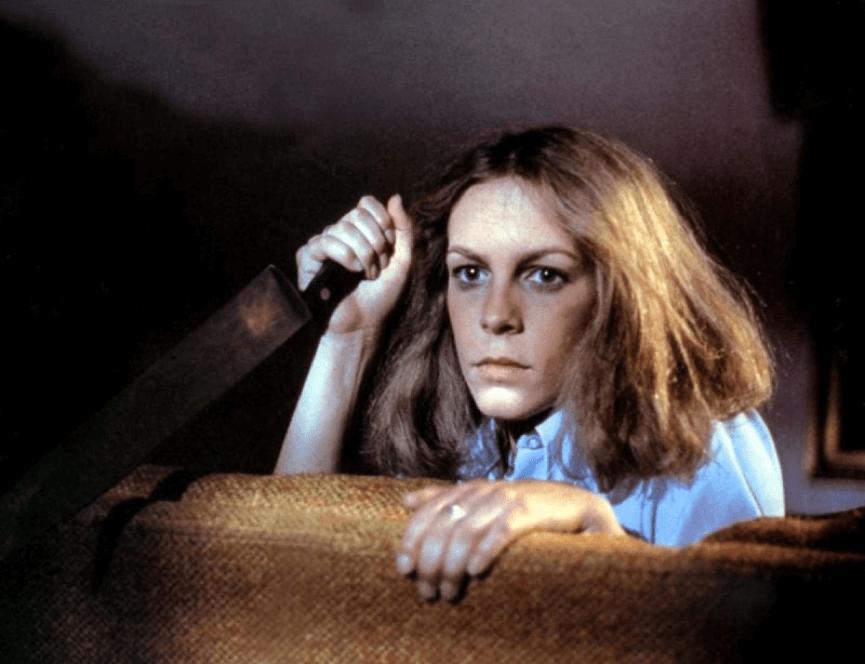 40年前的 潔美李寇蒂斯 演出恐怖片《 月光光心慌慌 》的劇照。