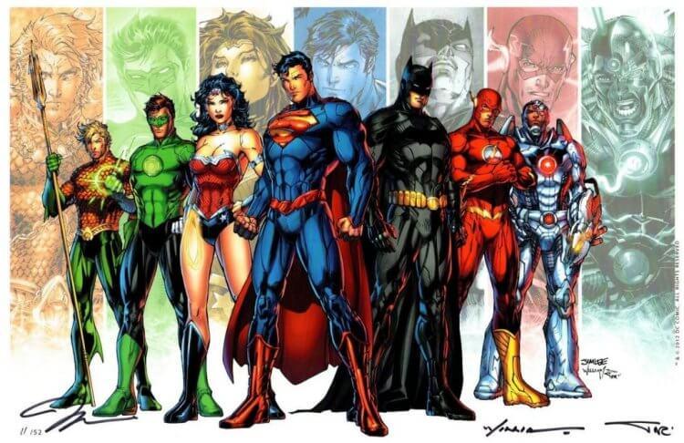 DC 漫畫的超級英雄們。