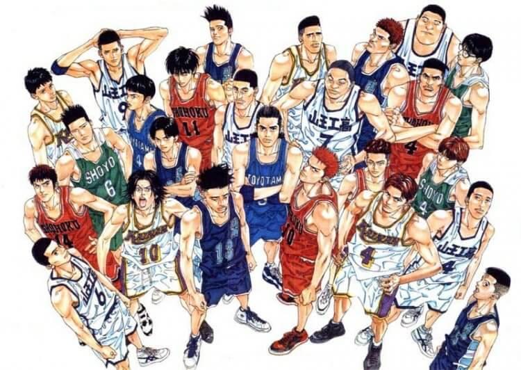 籃球題材漫畫《灌籃高手》。