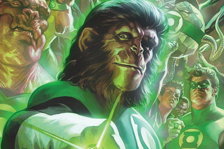 《Green Lantern/The Planet of the Apes》漫畫。