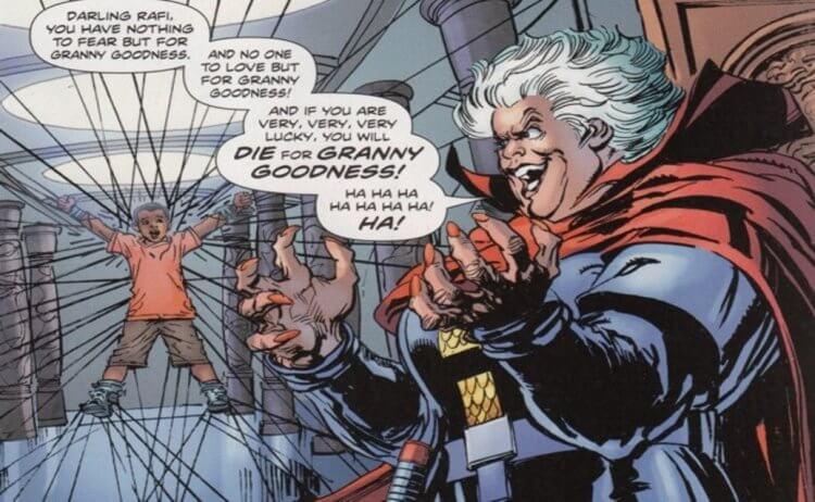 《正義聯盟》反派達克賽德的菁英慈祥奶奶 (Granny Goodness)。
