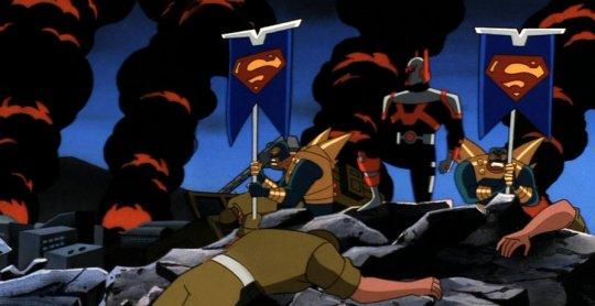 《超人動畫系列》劇照。