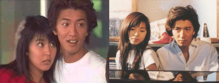 木村拓哉曾在日劇與松隆子、山口智子演出螢幕情侶。