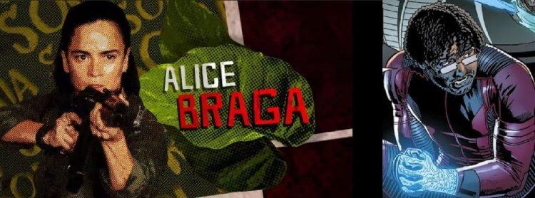 《自殺突擊隊:集結》艾莉絲布拉加飾演角色「Sol Soria」。