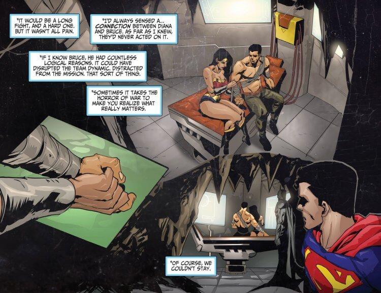 蝙蝠俠與神力女超人。