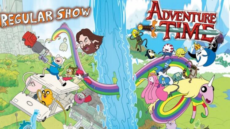《探險活寶》和《天兵公園》合作漫畫。