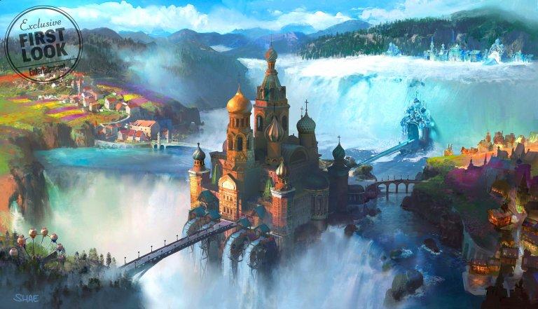 《胡桃鉗與奇幻四國》主宮殿美術設定。