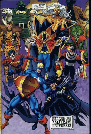 Amalgam Comics。