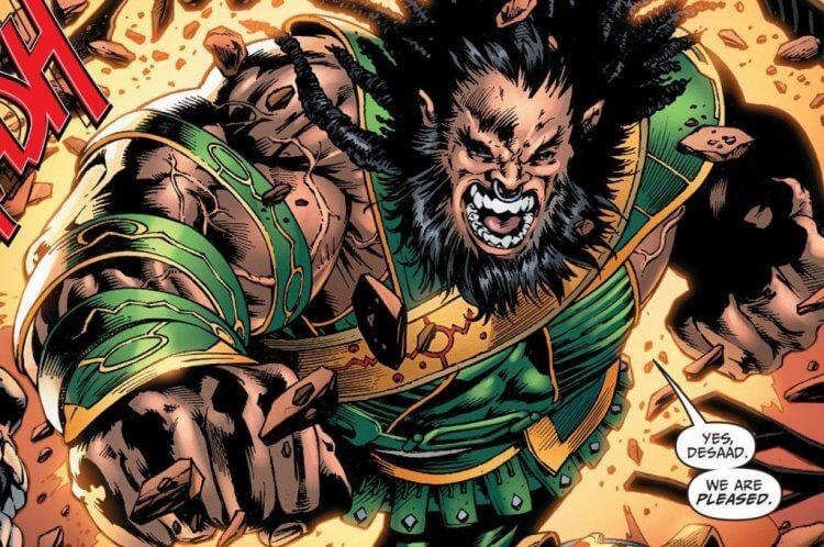 《正義聯盟》反派達克賽德的菁英卡利巴克 (Kalibak)。
