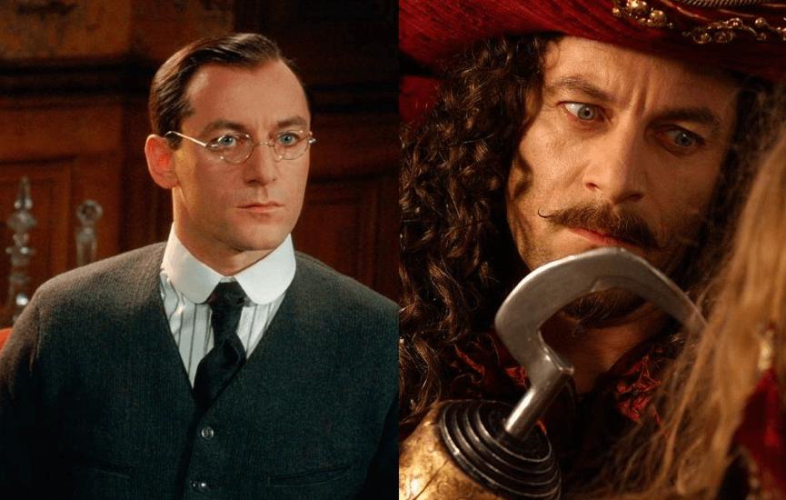 迪士尼 電影中,也曾讓 傑森艾塞克 (Jason Isaacs) 同時飾演溫蒂的父親與虎克船長。