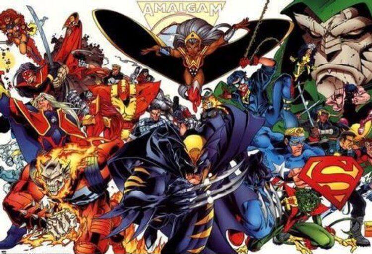 DC與漫威的混合宇宙。