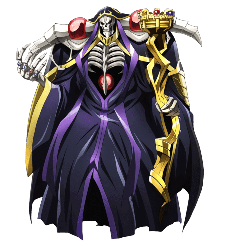 《OVERLORD》主角鈴木悟在遊戲世界中所使用的身分「安茲烏爾恭」。