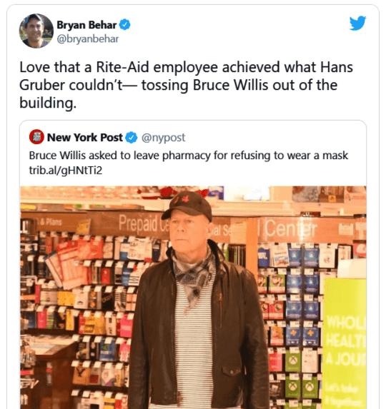 布魯斯不戴口罩威力。