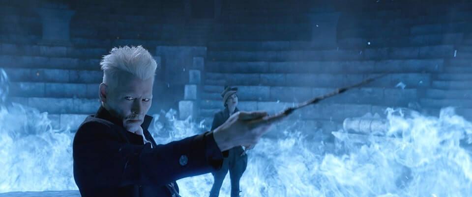艾迪瑞德曼表示,《怪獸與葛林戴華德的罪行》片中的藍色火焰其實只是燈光,需要靠演員的想像力表演出身歷其境的動作。