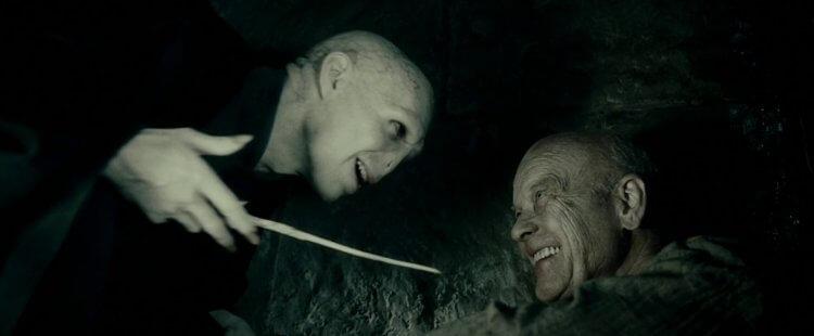 蓋勒葛林戴華德與佛地魔。