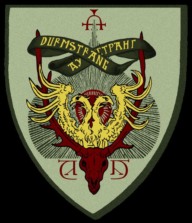 《哈利波特》系列德姆蘭學院校徽。