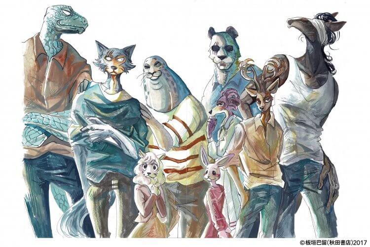 動物擬人的群像劇《BEASTARS》。