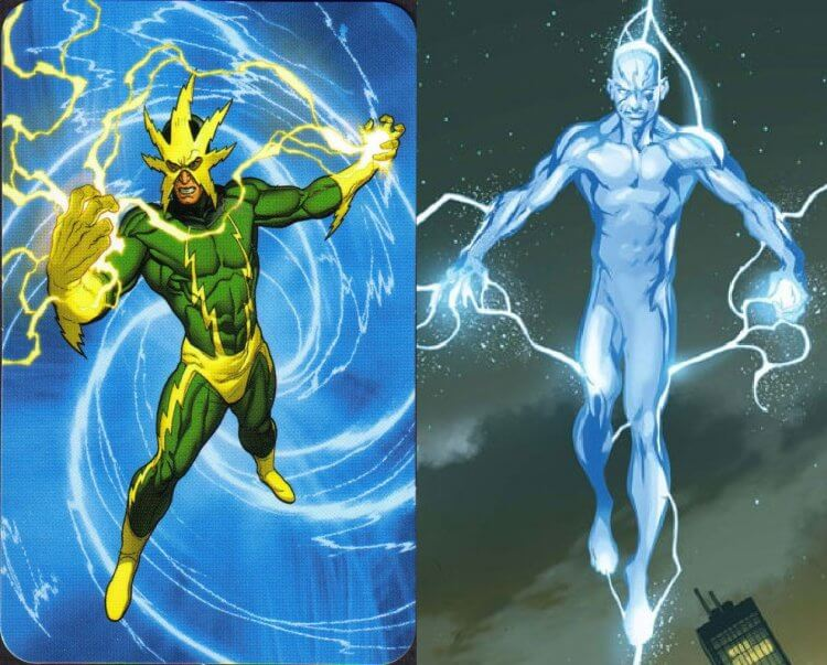 漫畫正史版本與終極宇宙版本的電光人。