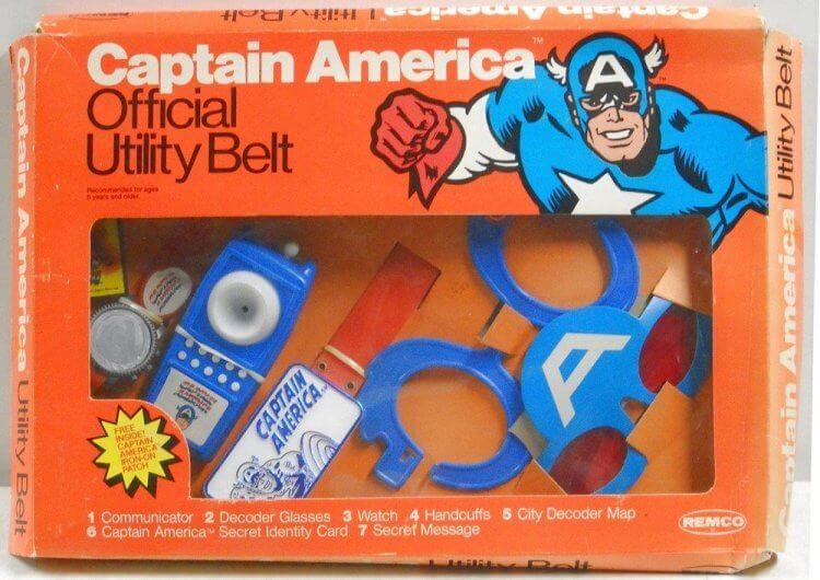 1979 年推出的《美國隊長》周邊玩具。