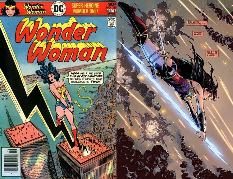 《神力女超人》漫畫封面。