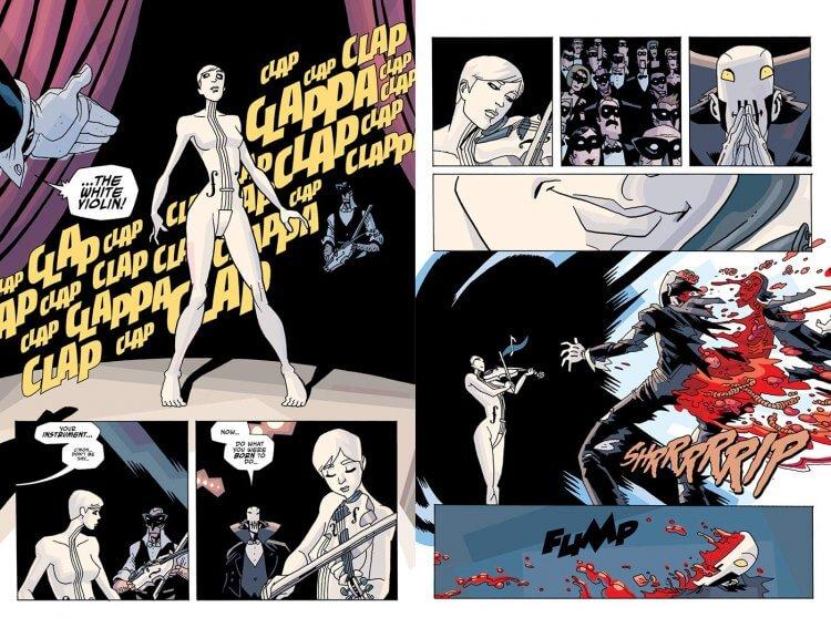 漫畫《雨傘學院》七號(白色小提琴)。
