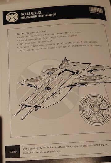 《神盾局特工》出現過天空戰艦第 64 號的設計圖。