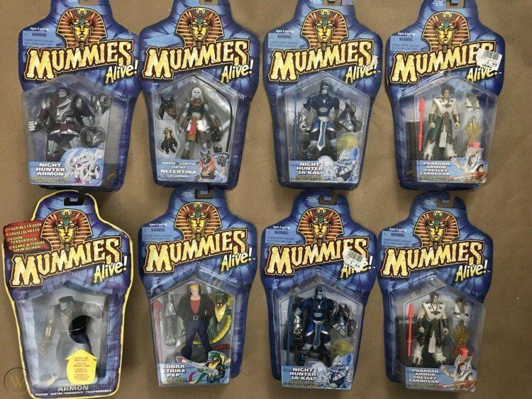 《木乃伊戰士》周邊玩具。