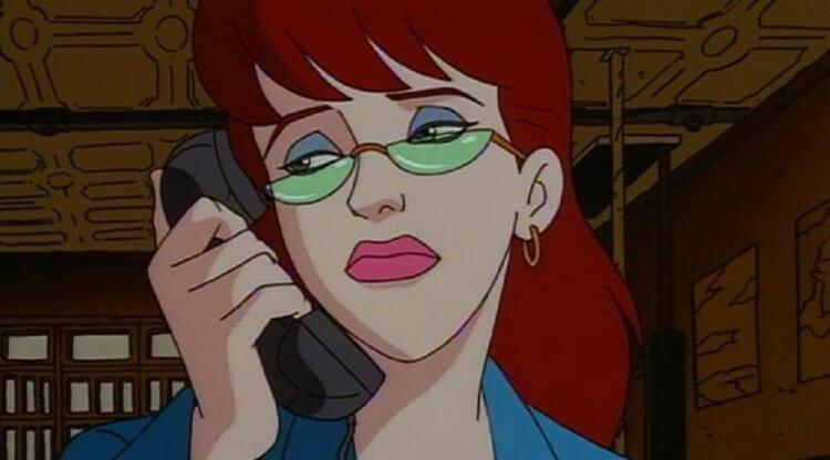 《捉鬼特攻隊》卡通:珍妮莫爾尼茲 (Janine Melnitz)。