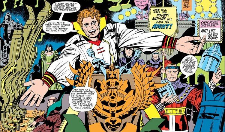 《正義聯盟》反派達克賽德的菁英 Glorious Godfrey。