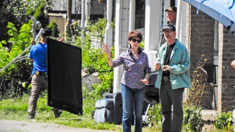 朗霍華在拍攝由 Netflix 出資製作的《Hillbilly Elegy》片場。