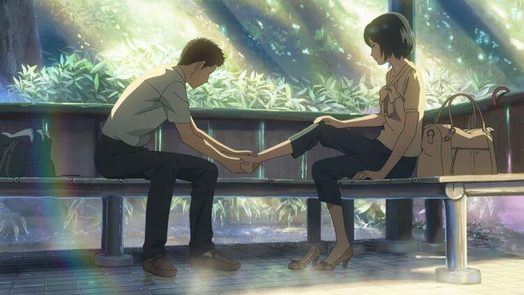 新海誠監督動畫電影《言葉之庭》劇照。