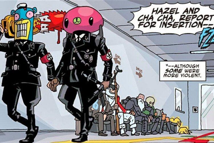 漫畫《雨傘學院》恰恰、黑宙。