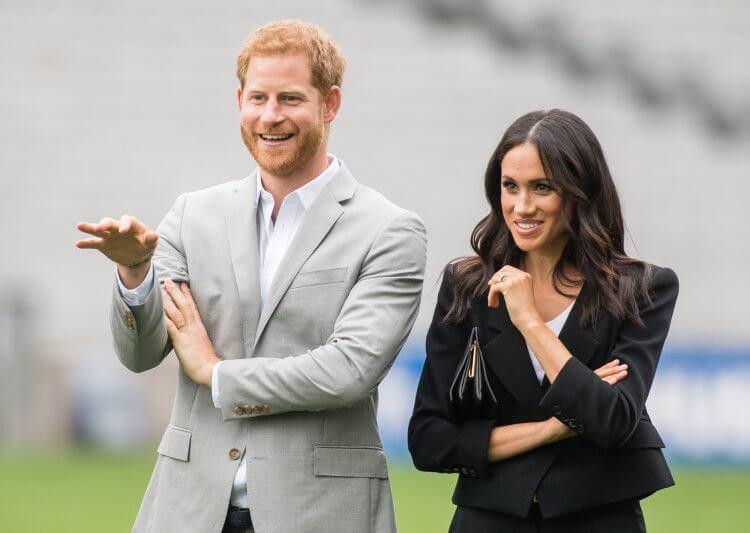 哈利王子和梅根。