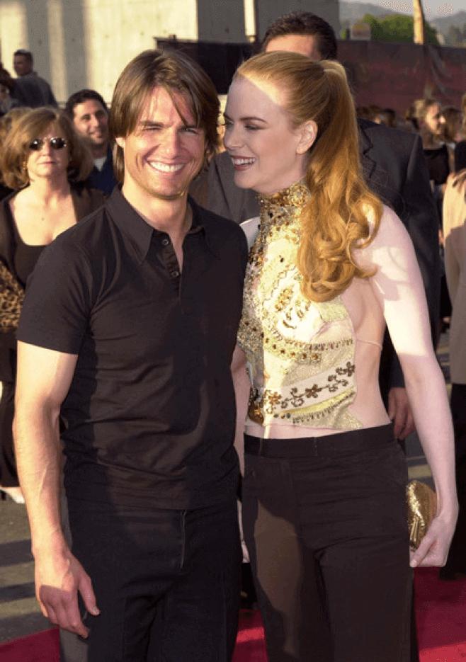 《 MI2 》首映上的男主角夫妻。