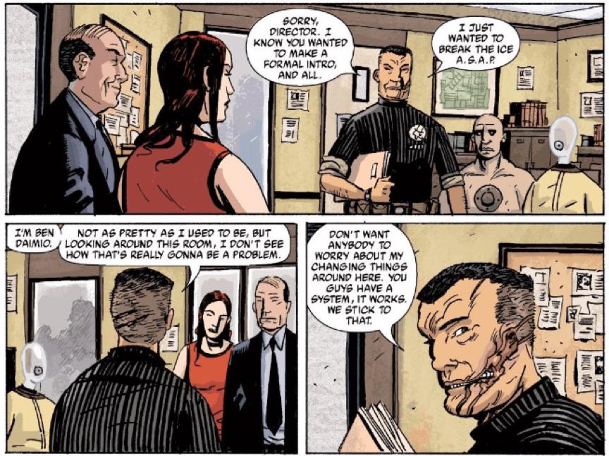 《 B.P.R.D. 》 漫畫畫面 。