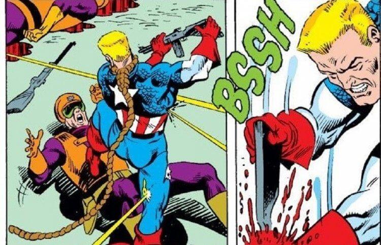 漫畫中約翰殺死敵人的畫面。