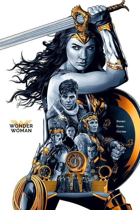蓋兒加朵主演的《神力女超人》電影海報。