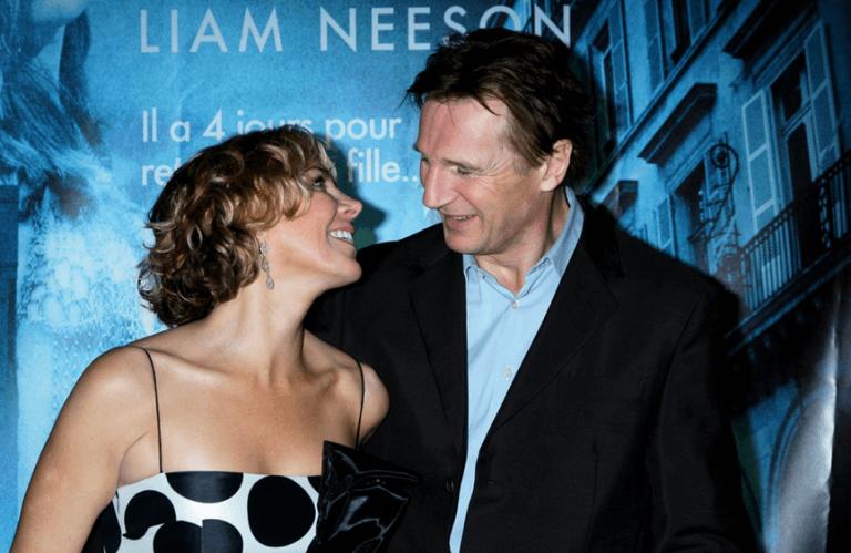 妻子娜塔莎李察森與連恩尼遜聯袂出席《即刻救援》首映