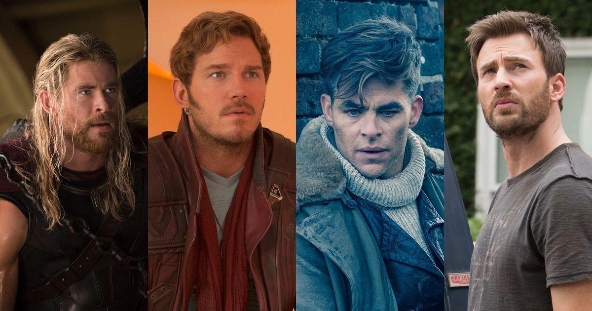 好萊塢四大「 英雄克里斯 」: 美國隊長 克里斯伊凡 、 雷神索爾 克里斯漢斯沃 、 星爵 克里斯普瑞特 、《 神力女超人 》: 克里斯潘恩