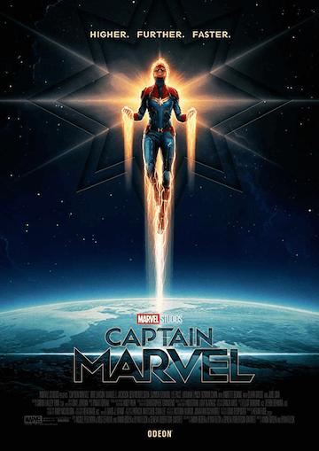 更高,更遠,更快──《驚奇隊長》電影海報。