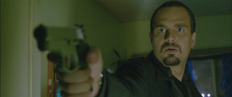 2004 年湯姆克魯斯及傑米福克斯主演電影《落日殺神》,其中由馬克盧法洛飾演的警察劇照。