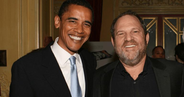 曾叱吒好萊塢影壇的哈維溫斯坦,與美國前總統歐巴馬的昔日合影。
