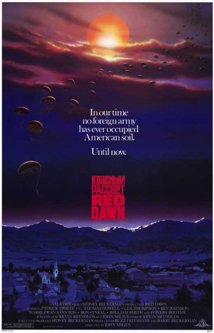 美國危機 !1984 年電影《 天狐入侵 》描述蘇聯軍隊進攻美國的故事。