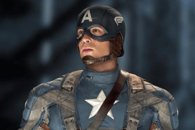 漫威超級英雄電影《美國隊長》(Captain America) 劇照,克里斯伊凡飾演多年,已建立間不可催的形象。