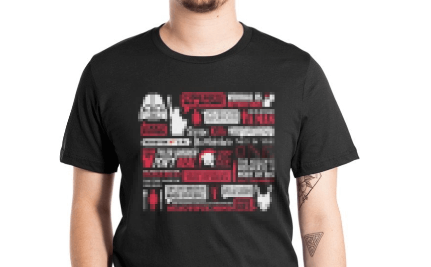 龍貓大王 擁有的「 爆雷 」T恤。