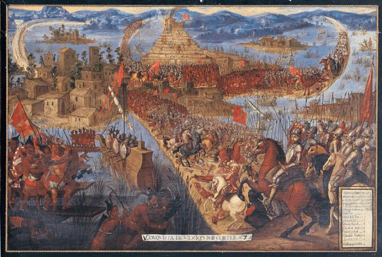 歷史圖片既載了西班牙攻陷阿茲特克的樣貌,傳說中的瑪琳切(憂羅娜的雛形)也經歷這戰亂時代。