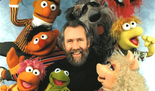 吉姆亨森與他的布偶角色。